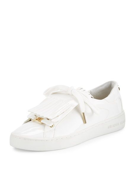 57c93c0855a9 MICHAEL Michael Kors Keaton Kiltie Faux-Patent Sneaker