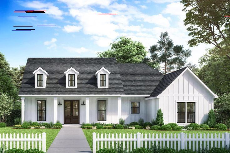 Plan 56447SM: Exclusive Modern Farmhouse with Expansive Rear Porch and Double Carport Classic farmh