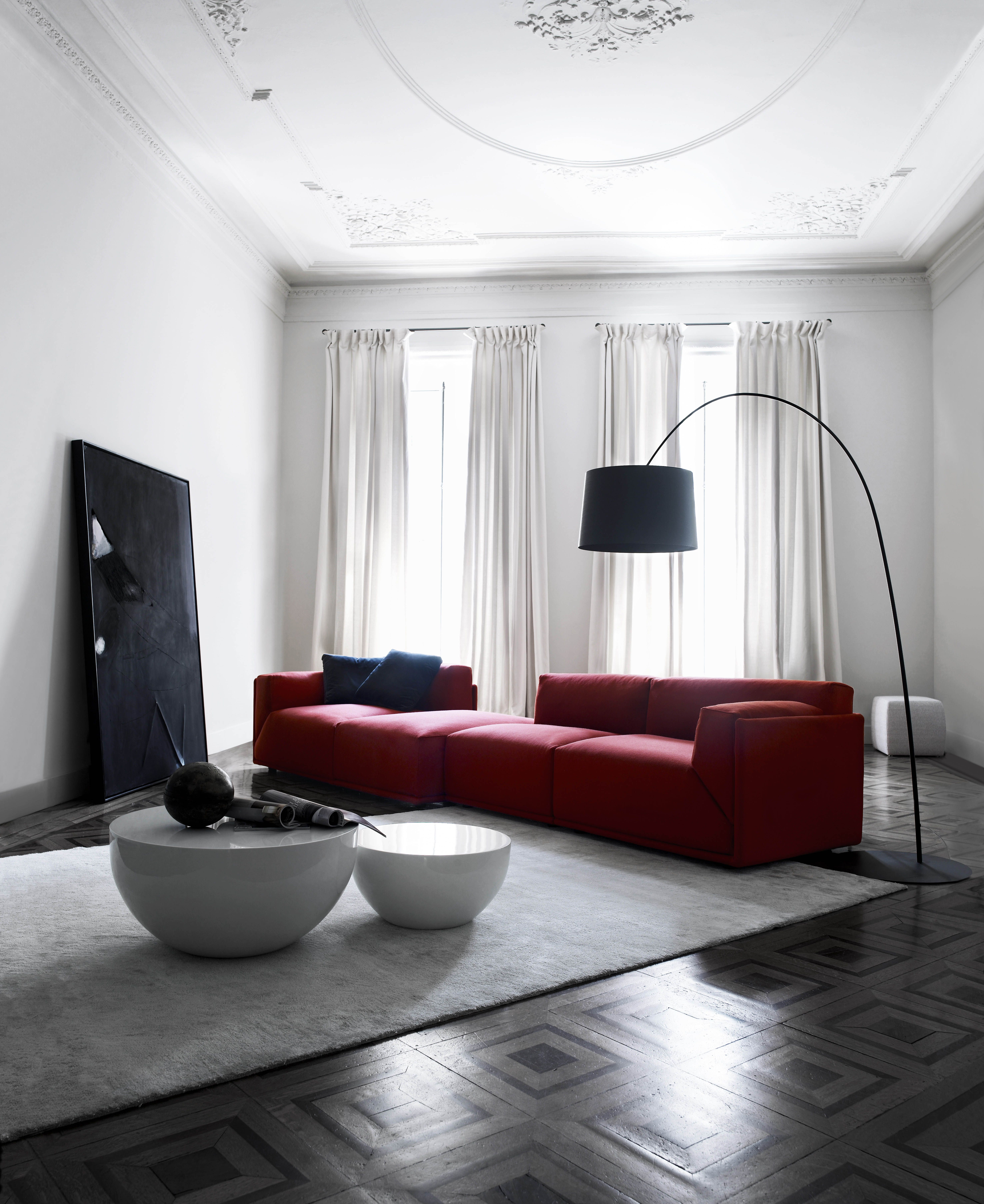 art sofa namestaj floral patterned sofas meridiani i bacon modular and bongo low tables design direction andrea parisio