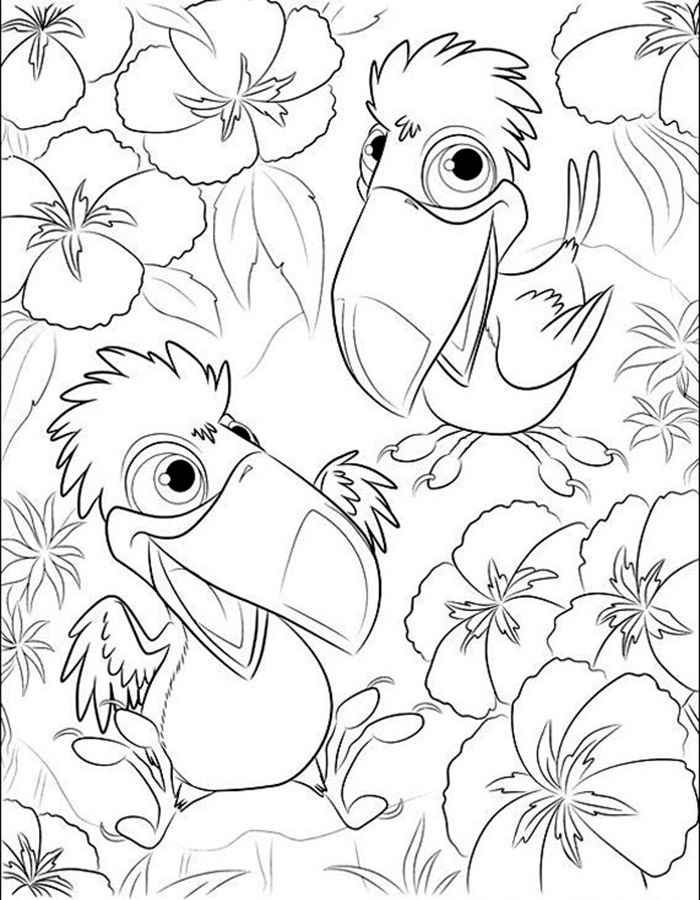 Раскраски Рио 2. Распечатать картинки для детей бесплатно ...