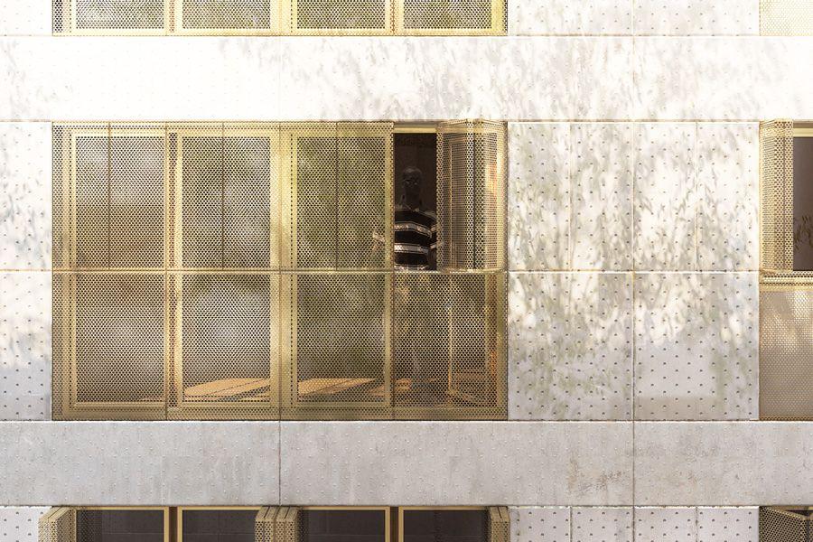 concours de logements sociaux pour paris habitat rue de nantes paris facade pinterest. Black Bedroom Furniture Sets. Home Design Ideas