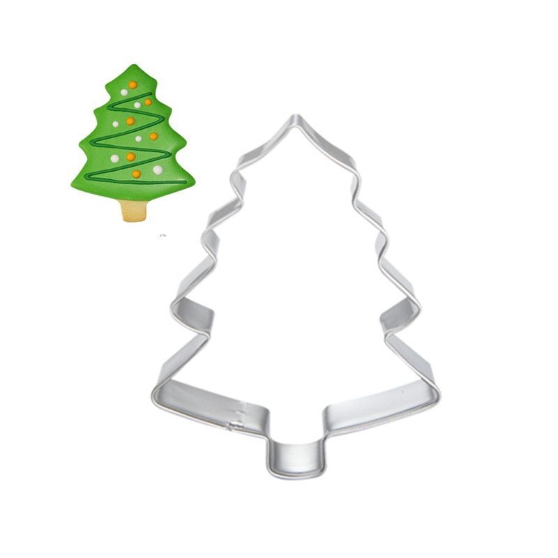 Christmas Tree Cookie Tool Cutter Mould Biscuit Press Icing Set