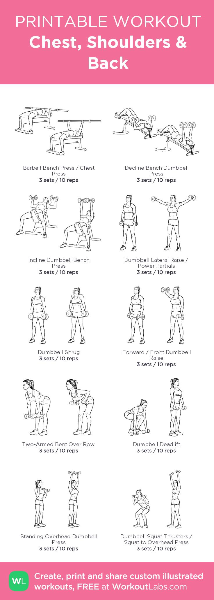Chest, Shoulders & Back