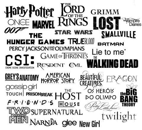 I love Harry Potter, Lord Of The Rings, Vampire Diaries