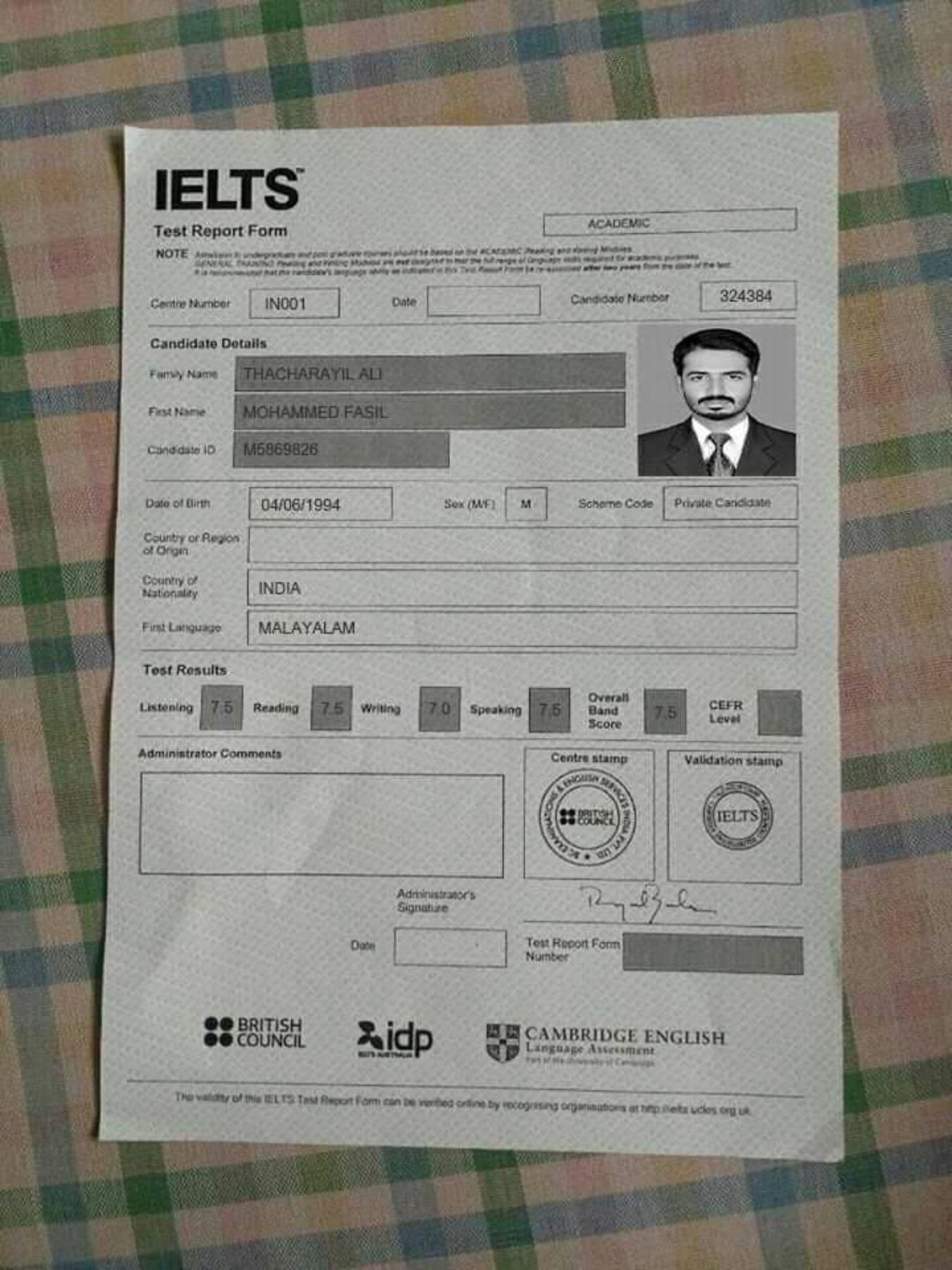Buy Original Ielts Certificate Without Exam In Jordan Buy