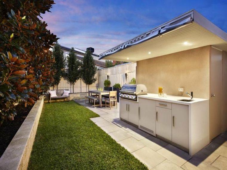 Barbacoas y muebles de cocina para el jardín - 34 ideas - | Barbacoa ...