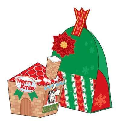Christmas Paper Box And Basket  Kadodoosjes