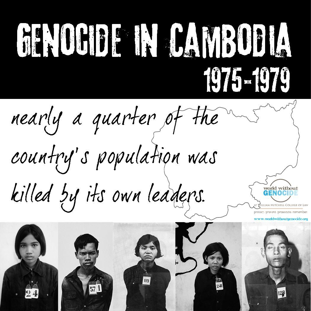 In a genocide in Cambodia from 1975 to 1979, nearly a quarter of ...