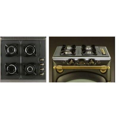 Cocina de gas con horno el ctrico color crema herrajes for Horno electrico dimensiones