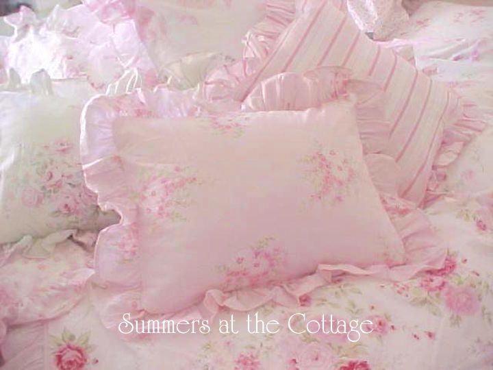 Rachel ASHWELL SHaBby Chic Peonies White Pink Roses Pillow Sham Standard