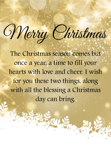 Golden Twinkling Merry Christmas Wishes Card Birthday Greeting Cards By Davia Christmas Poems Christmas Wishes Quotes Christmas Card Verses