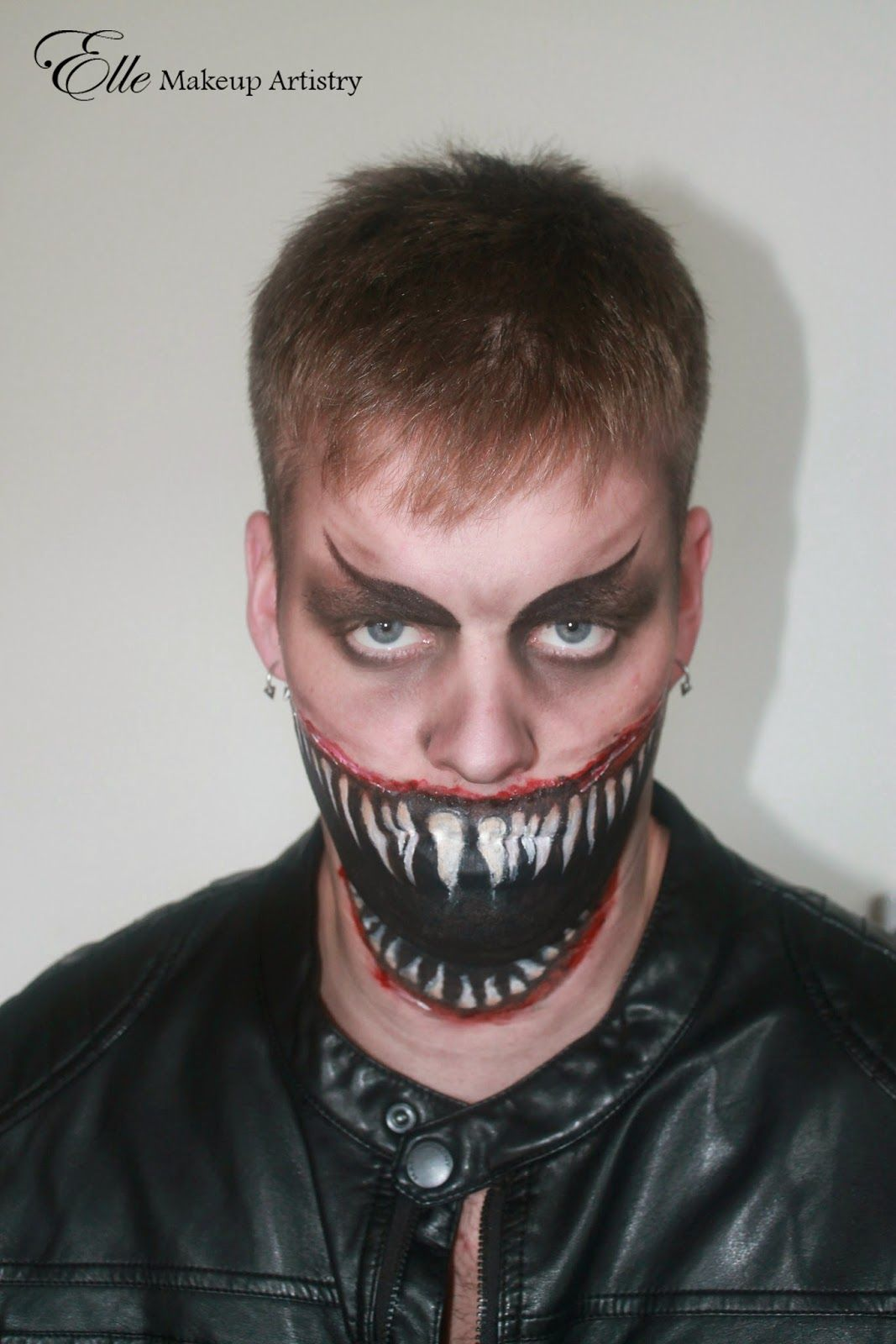 scary halloween makeup - creepy, gorey, big mouth, razor toothed