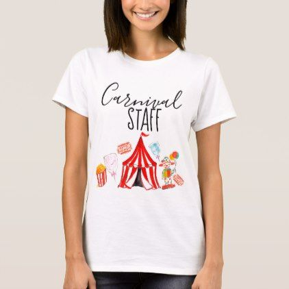 Fun Circus Carnival Staff Kid Party Shirt