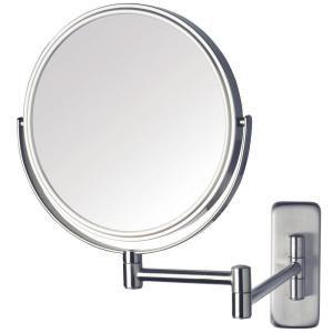 8 In Dia Single Wall Mounted Mirror In Nickel Wall