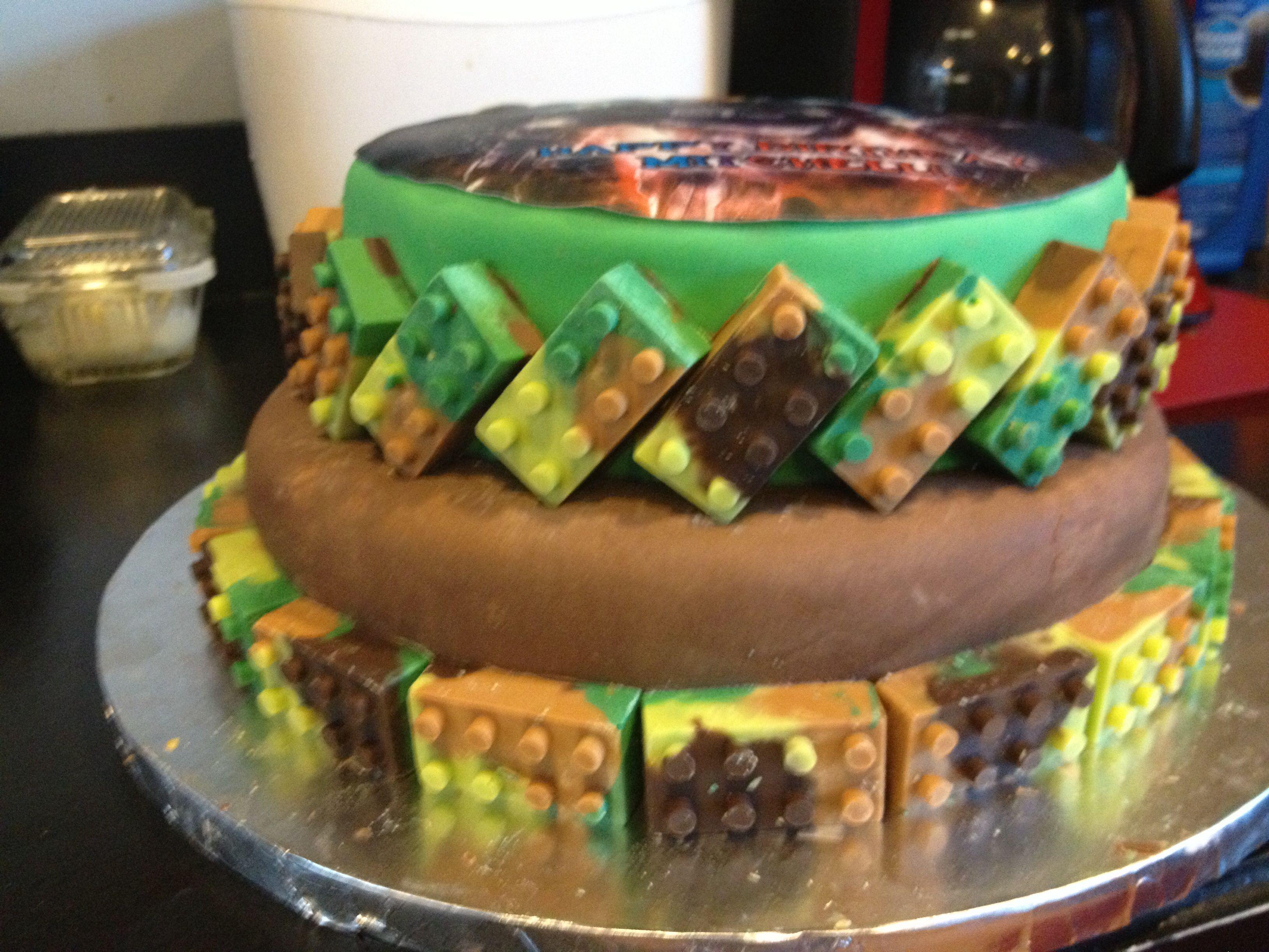 LegoCamohalo cake Cakes by Eron Cakes Pinterest Halo cake