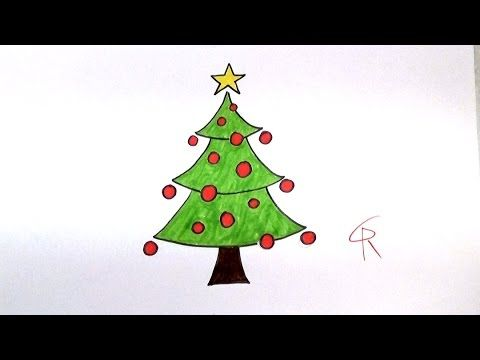 Learn How To Draw A Festive Cartoon Christmas Tree Icanhazdraw Cartoon Christmas Tree Cute Christmas Tree Christmas Tree