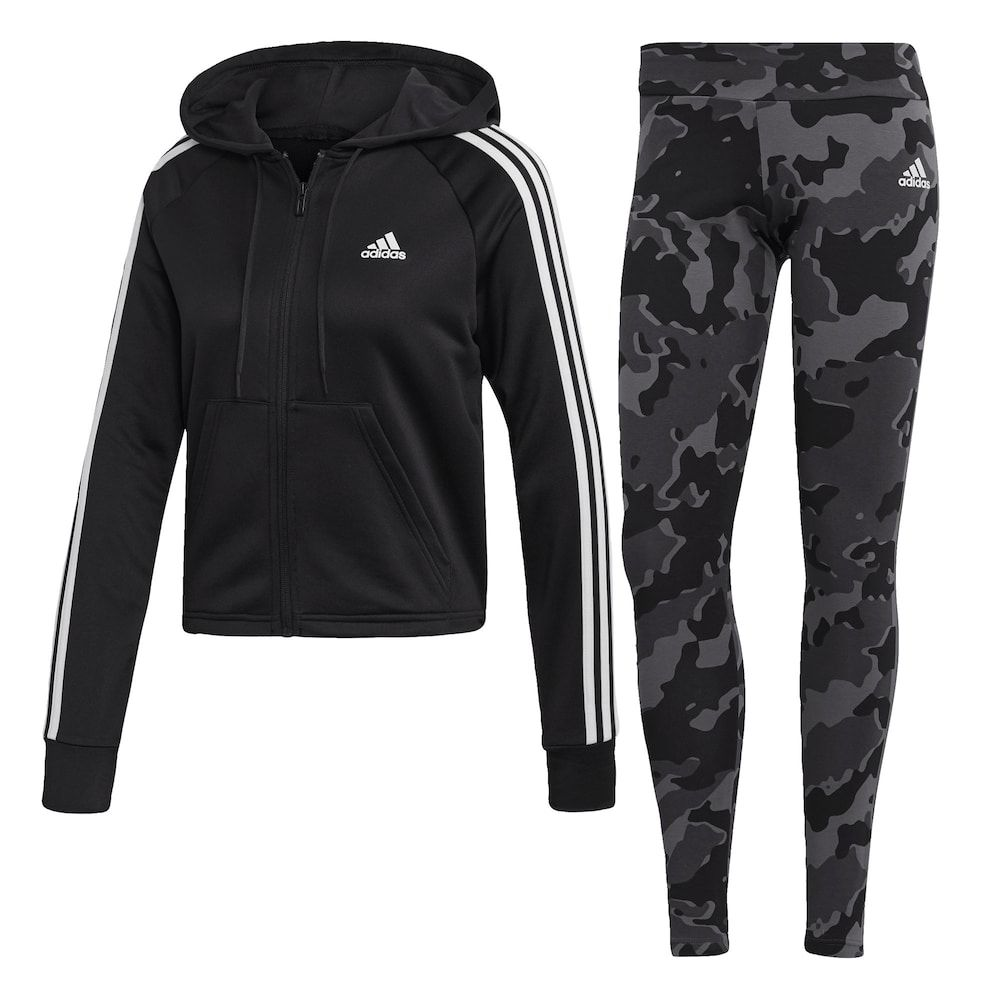ADIDAS PERFORMANCE Trainingsanzug Damen, Grau / Dunkelgrau ...