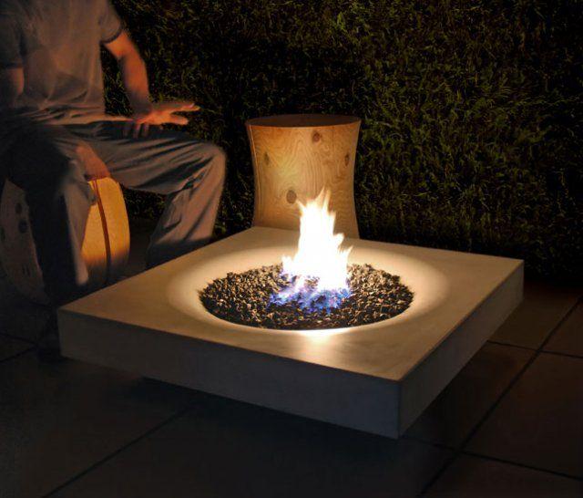 Solus Halo Concrete Fire Pit Backyard Fire Outdoor Fire