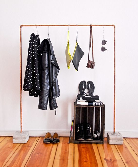 10 Brilliant Non-Closet Clothing Storage Solutions You Can Make Yourself » Curbly | DIY Design Community