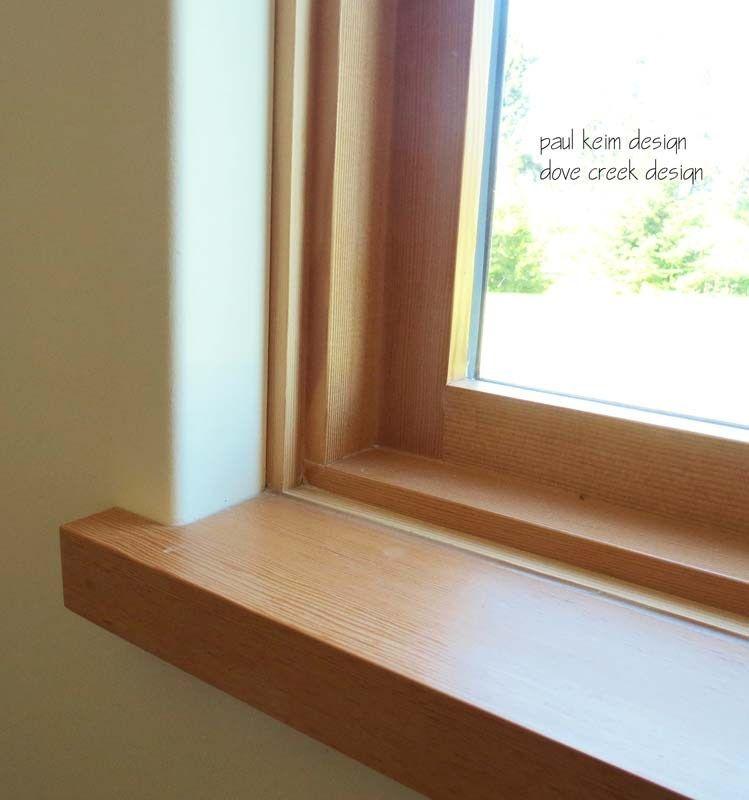 Paul Keim Design Detailscustom Comox Valley Home Design Interior Details Window Trim Exterior Interior Window Trim Wood Window Sill