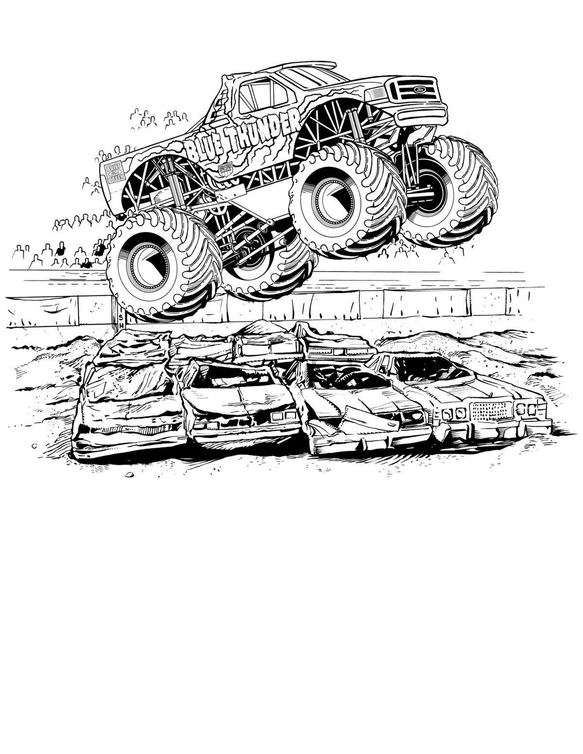 Kolorowanki Do Druku Samochody Monster Truck | Kolorowanki ...