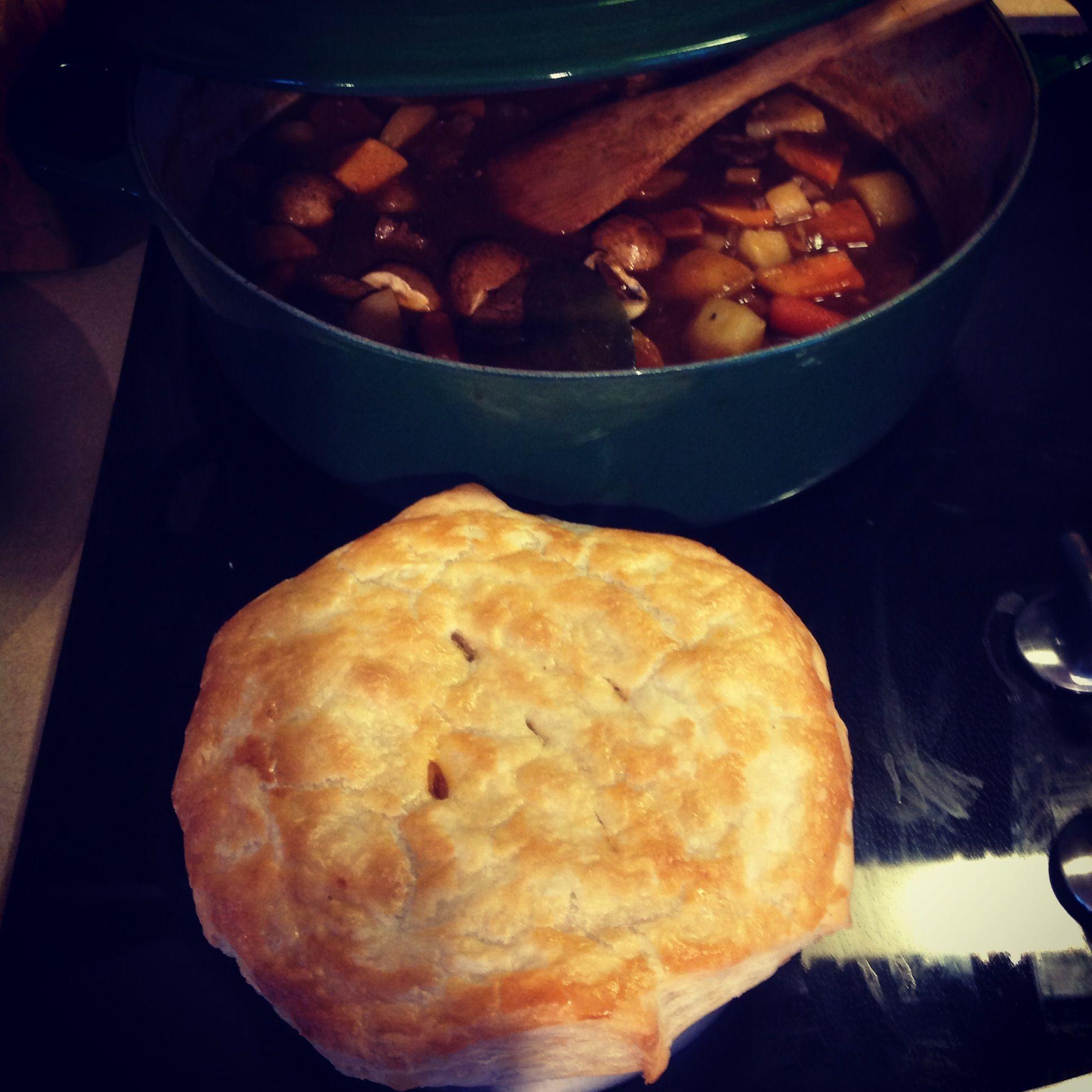 Irish stew pot pie