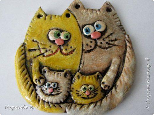 Поделки из соленого теста с котами
