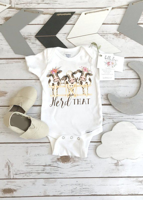 d6844921f Baby Shower Gift, Herd That, Country Baby, Farm shirt, Cowgirl shirt, Cow  Onesie®, Farm Baby Gift, C