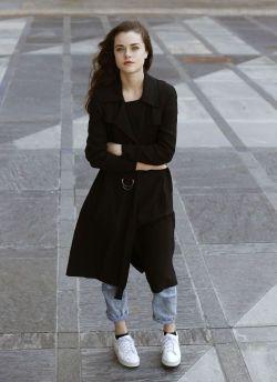 KOMFORTABEL: Boucher kjøper mest billige klær, og forteller at Zara er favoritten. - Jeg liker best behagelige og litt løse klær, sier hun. Foto: Trond Solberg/VG