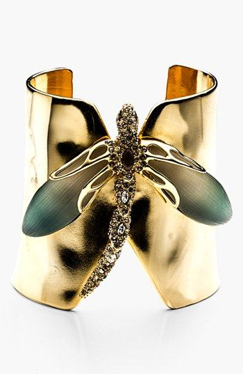 Alexis Bittar 'Lucite® - Neo Bohemian' Dragonfly Cuff Bracelet available at #Nordstrom