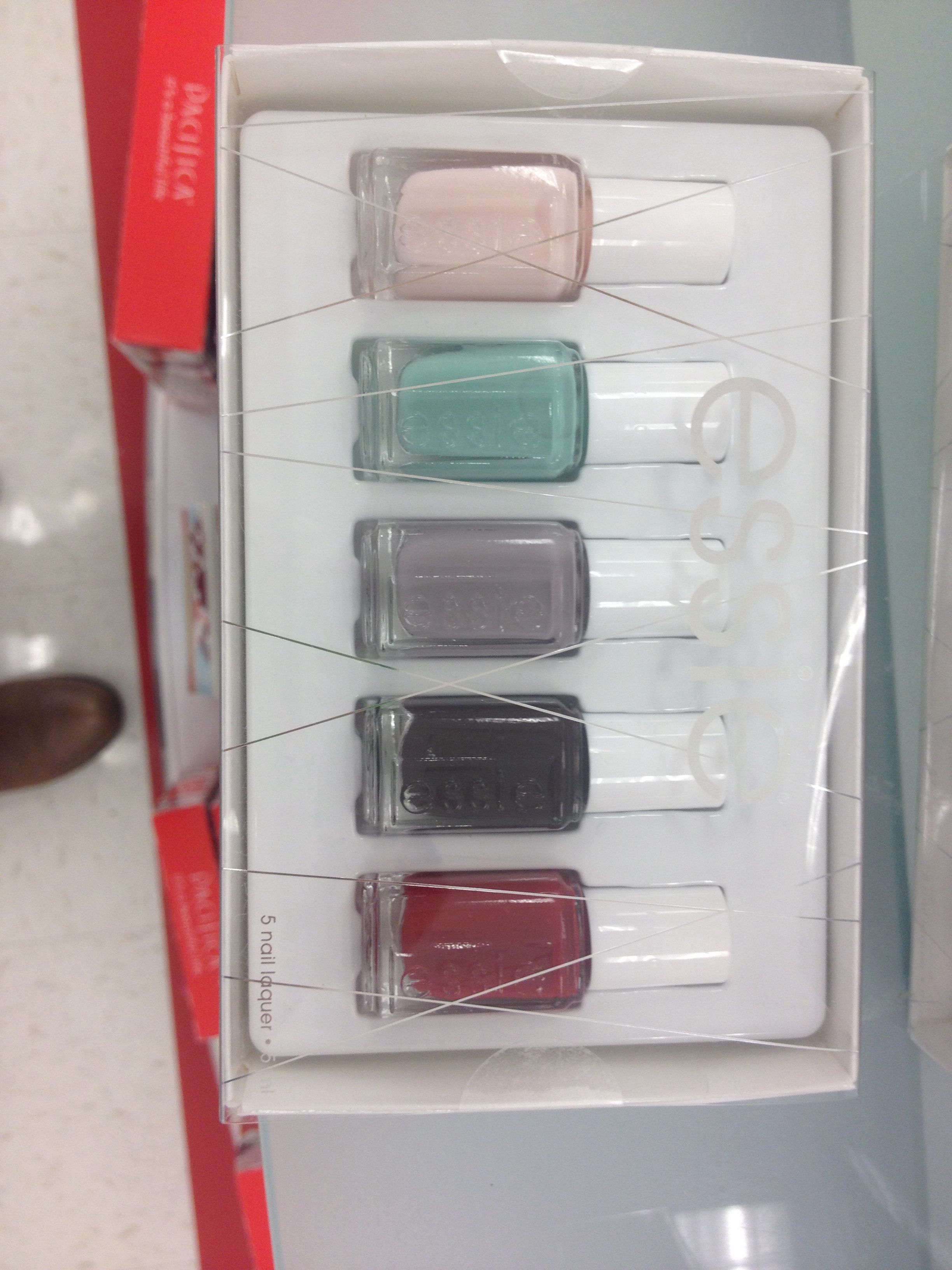 Essie mini nail polish 5 pack at target! (Stocking stuffer)   Gift ...