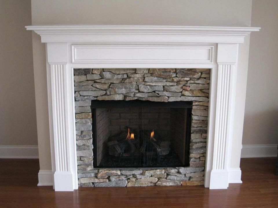 Stacked Stone Fireplace Surround Ideas Interior Home Design