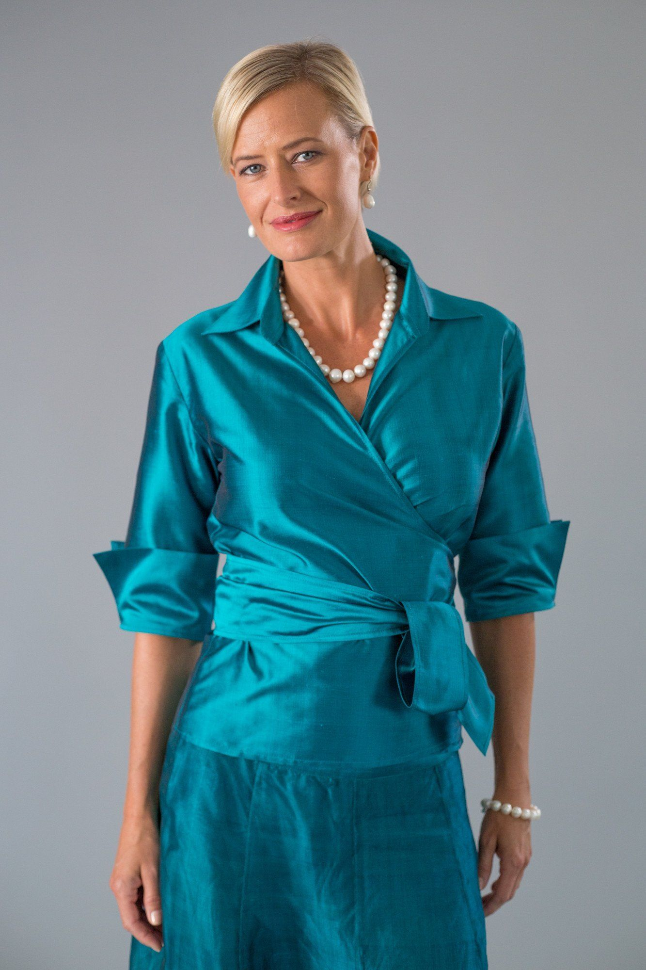 a00012f18d7 Classic Wrap Shirt - Teal in 2019