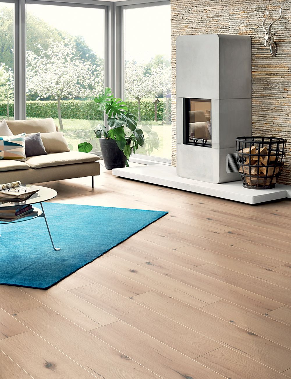 Calore e modernità nel tuo soggiorno con questo pavimento ...