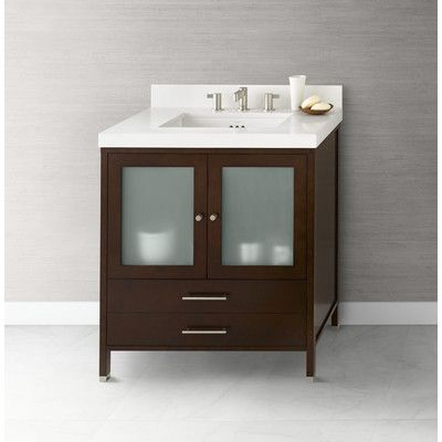 "Ronbow Juno 30"" Bathroom Vanity Cabinet Base In Dark Cherry Custom Cherry Bathroom Vanity Review"