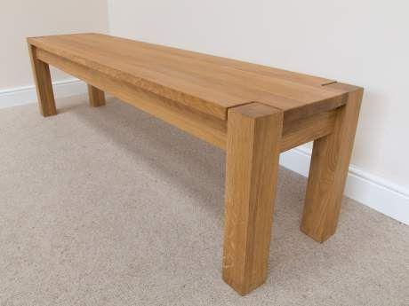 Baltic 180cm Premium Solid Oak Corner Leg Indoor Dining Bench