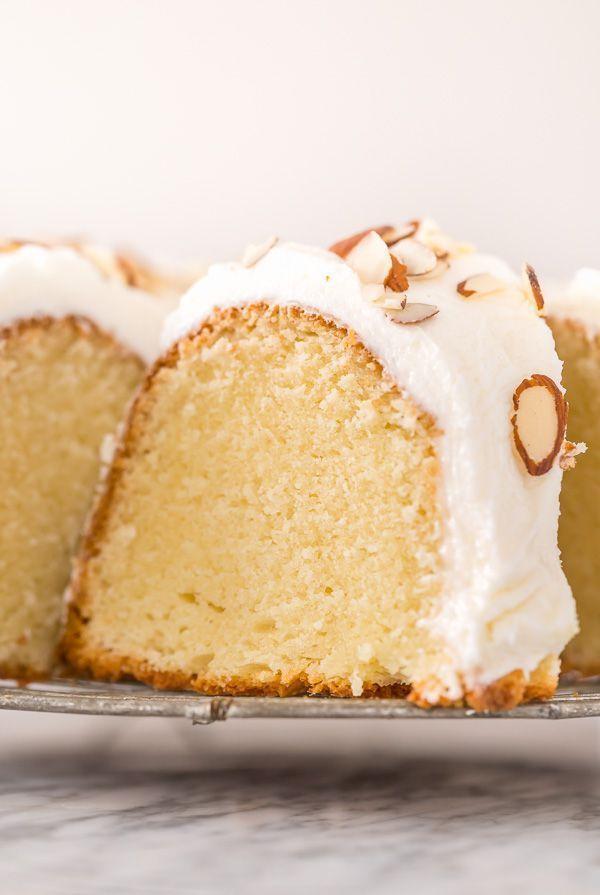 Almond Amaretto Pound Cake Recipe - Baker by Nature