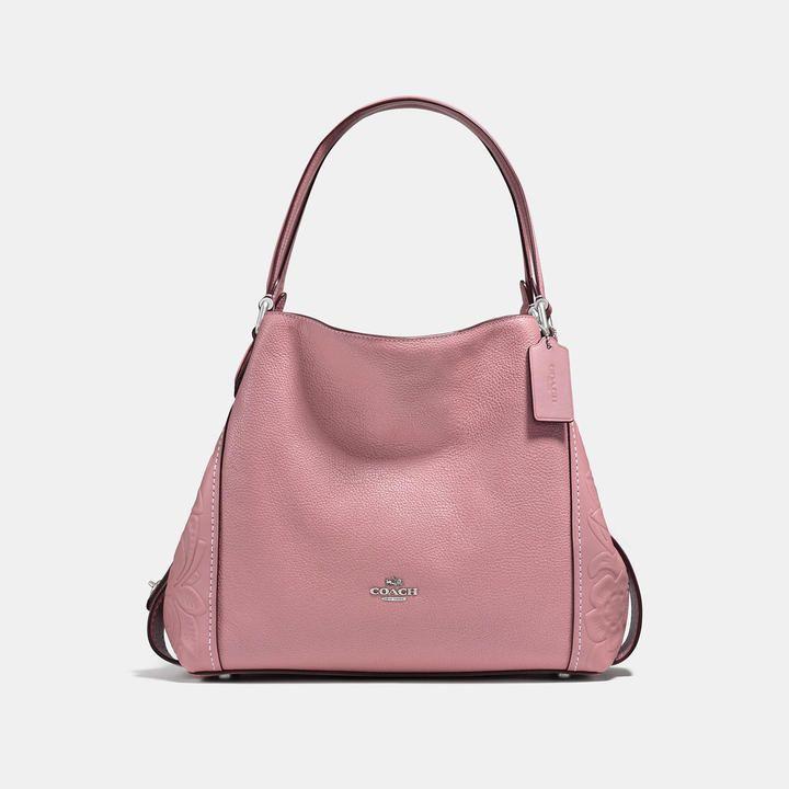 Tote - Edie 31 Shoulder Bag With Tea Rosetooling Stone - beige - Tote for ladies Coach uY9QI