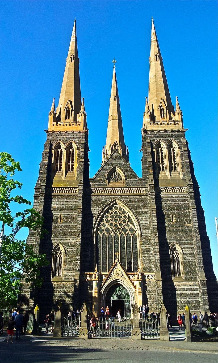 Melbourne Australia St Patrick S Cathedral Catedral Igreja E
