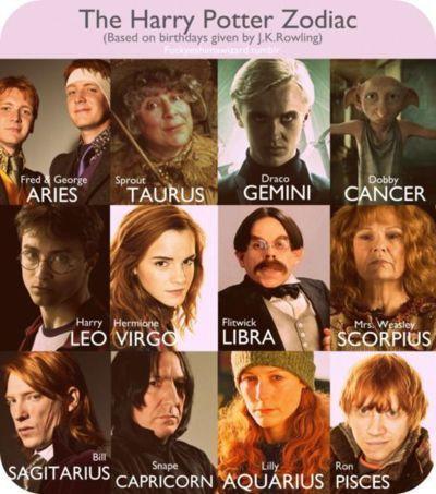 Astrology in Harry Potter – Thank My Editor sternzeichen verseau vierge zodiaque