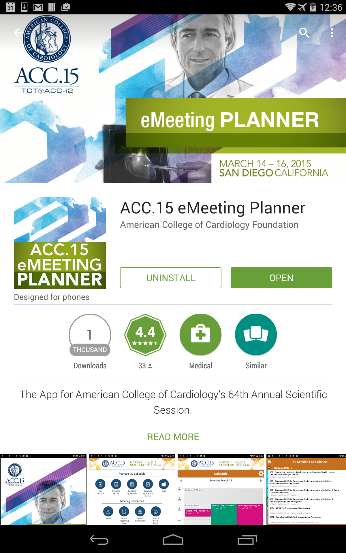 HCCA Conference App Feature Graphic in the Google Play App