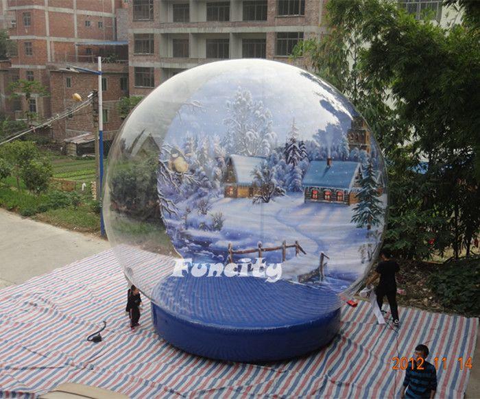 Attractive Christmas Inflatable Snow Globe Wedding Snow Globe