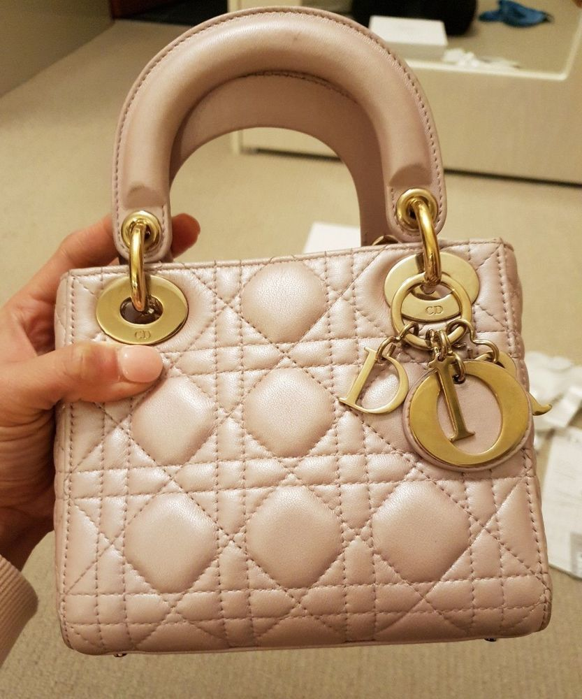 77164f4009e8 Authentic Dior Lady Dior Mini Bag in Pearly Pink Colour  fashion  clothing   shoes  accessories  womensbagshandbags (ebay link)