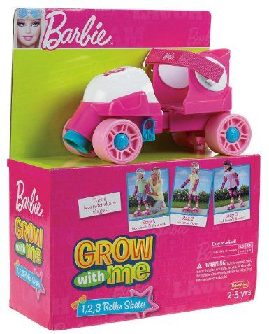 SKATE~BARBIE grow with me roller skates