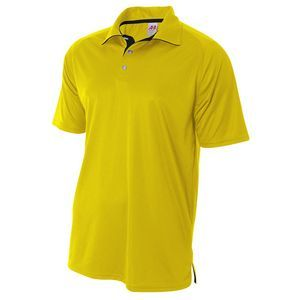 A4 Adult Interlock Contrast Polo Shirt