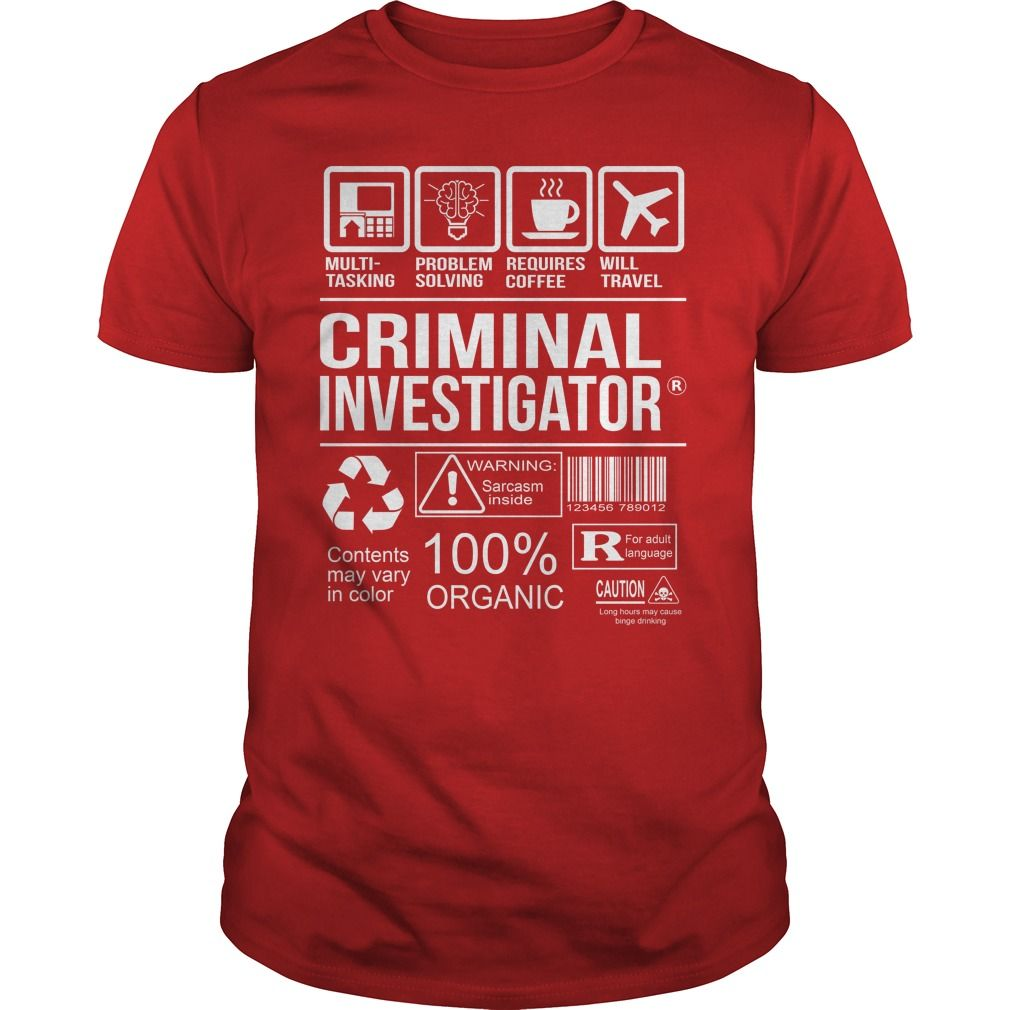 Awesome Tee For Criminal Investigator T-Shirts, Hoodies. BUY IT NOW ==►…