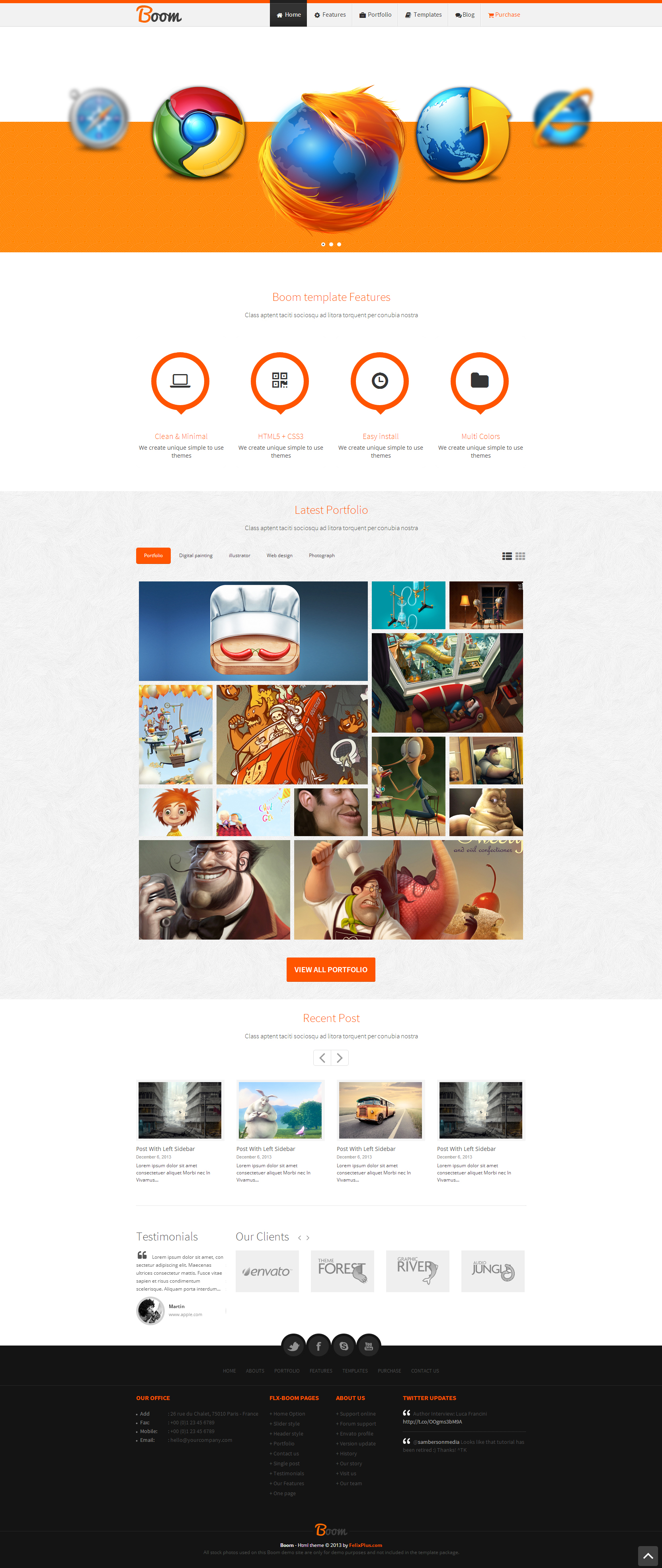 Website Templates Boom Responsive Html5 Template Zizaza Item
