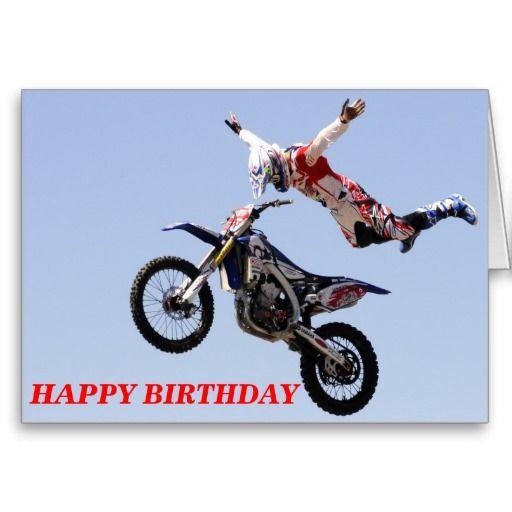 Motocross Happy Birthday Card Zazzle Com Motocross Happy Birthday Cards Happy Birthday Greeting Card