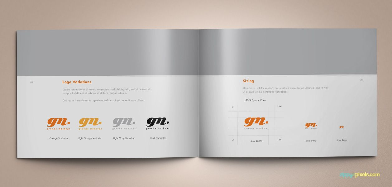 Download Professional Brand Guidelines Brandbook Template - booklet template free download