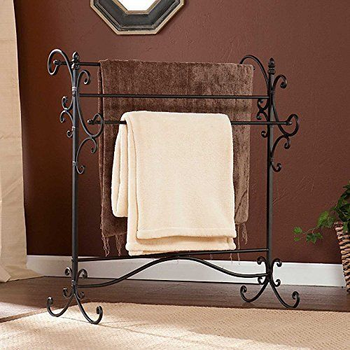 Decorative Iron Blanket Rack Towel Comforter Quilt Storage Stand